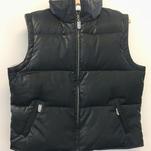 Jones New York black puffer vest.